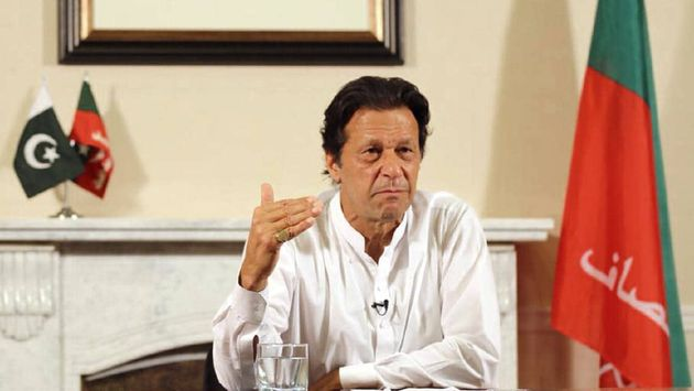 Imran Khan gave a televised speech declaring victory as PrimeMminister. / YouTube.,
