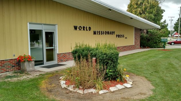 World Missionary Press building. / World Missionary Press.,