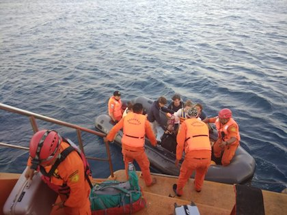The evacuation is being really difficult. / Twitter Sutopo Purwo Nugroho