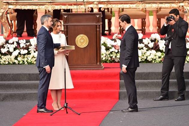 Mario Abdo Benítez is sworn in as the new President of Paraguay. / Facebook Mario Benítez,