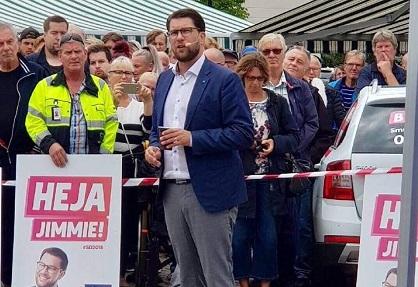 Surveys say the anti-migration party Sweden Democrats.