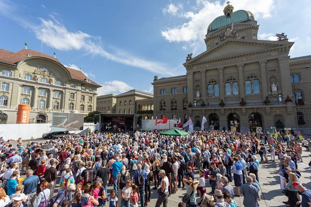An image of The March For Life, in Bern, 15 September 2018. / Marsch Fürs Läbe website,