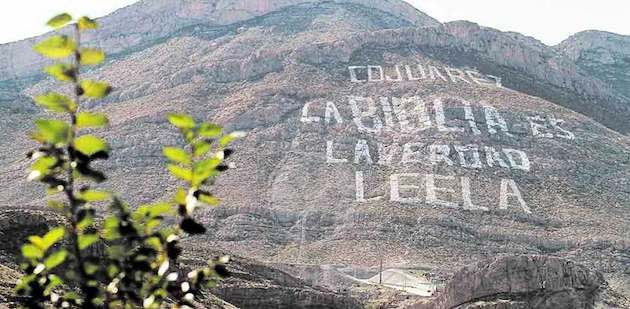 The hill of the Bible in Ciudad Juárez. / Evangélico Digital,