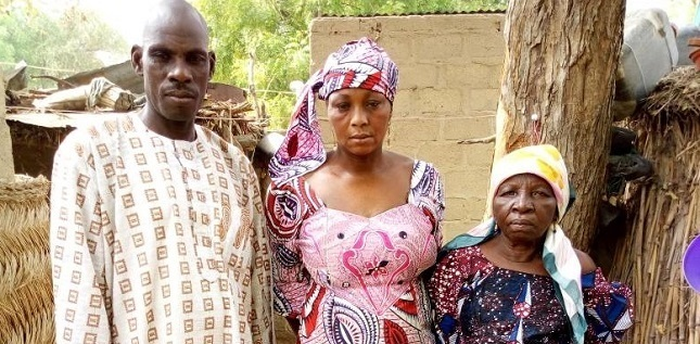 The parents and one grandmother of Leah Sharibu. / Open Doors,