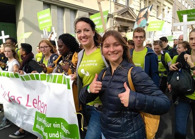 Participants of the march for life in Berlin. / Marsch für das Leben Facebook,