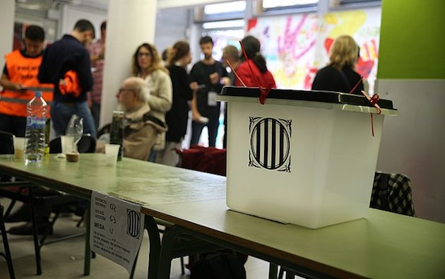 One of the thousands of ballot boxes used in the October 1 anauthorised referendum in Catalonia, Spain. / Wikimedia Commons HO (CC),