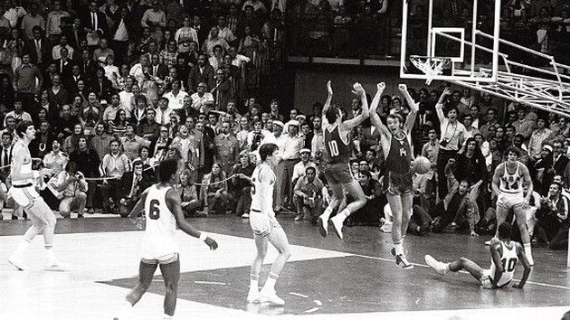 Basketball finals of the 1972 Munich Olympics. / Wikimedia.,