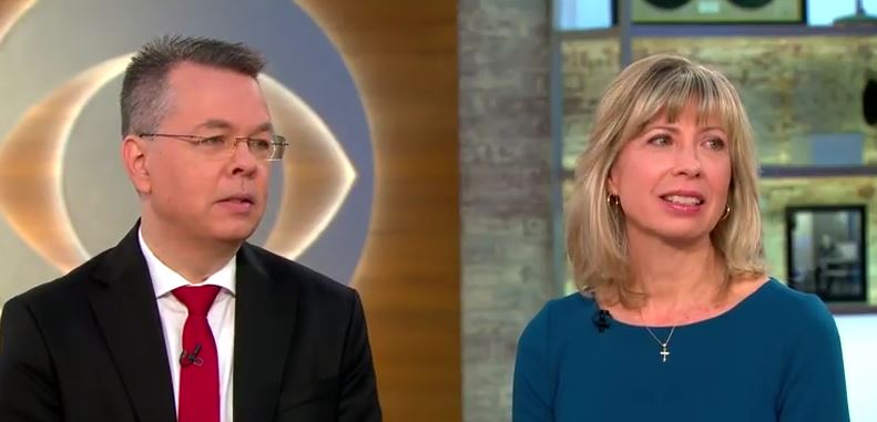 Andrew and Norinne Brunson, interviewed on CBS on October 16. / Youtube CBS This Morning,