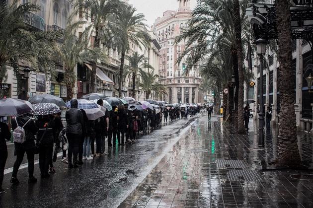 The Walk for Freedom initiative in Valencia, October 20, 2018. / Rebecca Paramio, thesecretkey.es,