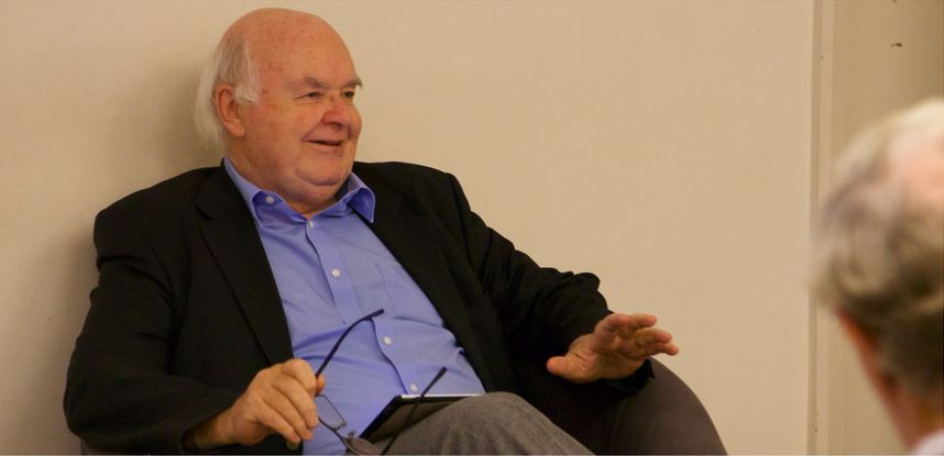 John Lennox commented on the book. / Photo: Darren Quinnell