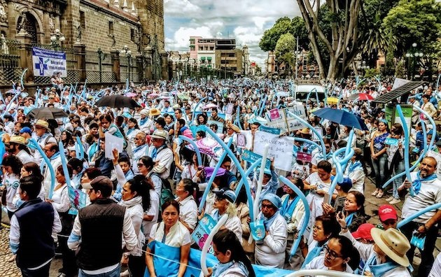 Participants of the march for life in Mexico City, in October 2018. / FNxF,
