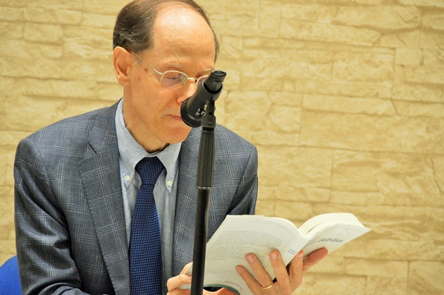 Author and columnist Pablo Martínez was in charge of a biblical reflection about the role of journalism. / Jordi Torrents