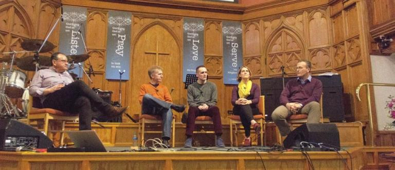 A Q&A time was the final session of the Confident Christianity conference in Dundee. / Solas CPC,
