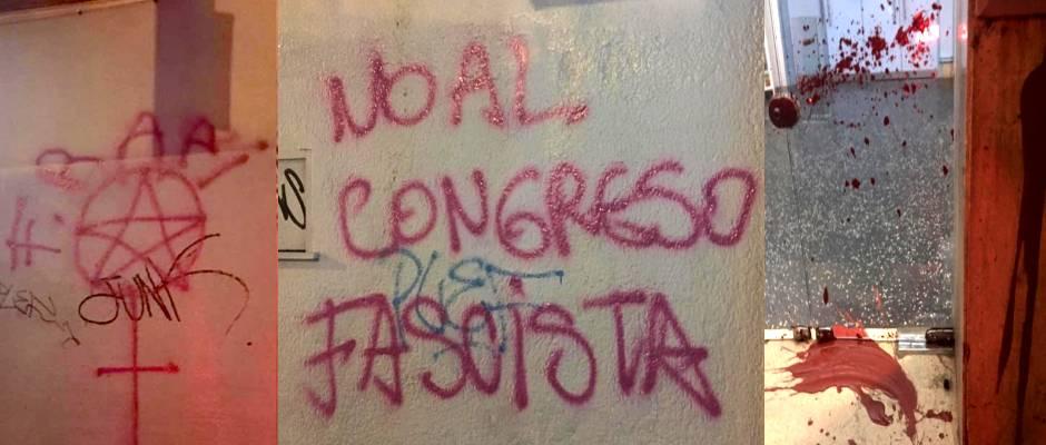 Radicals attacked evangelical organisations ahead of the Congress. / Evangélico Digital
