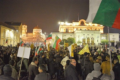 The rally started and finished in front of the Bulgarian Parliament, in Sofia. / Vestnik Zornista