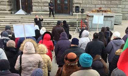 Christians from several churches gathered to pray in Sofia, December 9. / Yasen Tsenov