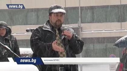 Despite the bad weather, some media covered the demonstration. / News.bg