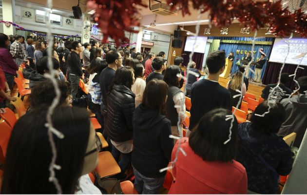 Hundreds of Hong Kong Protestants attended their church services on December 23 and 30  dressed in black. / Asian News.,