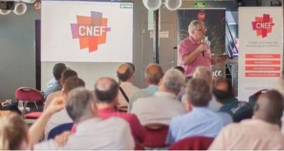 Etienne Lhermenault addresses the General Assembly of the CNEF. / CNEF National Facebook