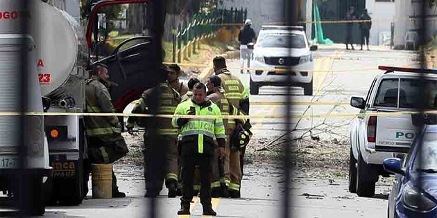 The site after the terrorist attack in Bogotá, Colombia. / ED,
