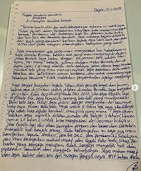 BTP shared on Instagram a letter from jail one week ahead of his release. / Instagram @basukibtp