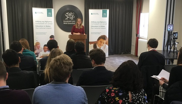 The Welsh Education Minister Kirsty Williams introduced the consultation on Religious Education on January 28. / Twitter Kirsty Williams,