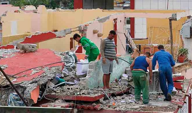 Consequences of the tornado that hit La Habana on January 27. / Council of Churches of Cuba,