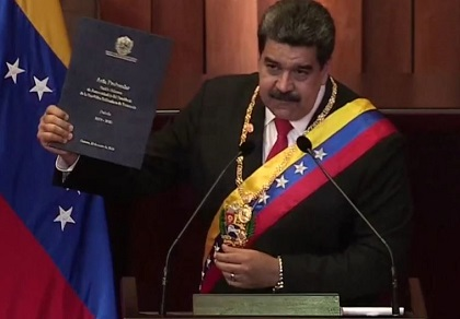 Nicolás Maduro claimed victory after a Presidential election that was described as illegal by the Venezuelan Parliament and international entities. / GNA, Evangélico Digital