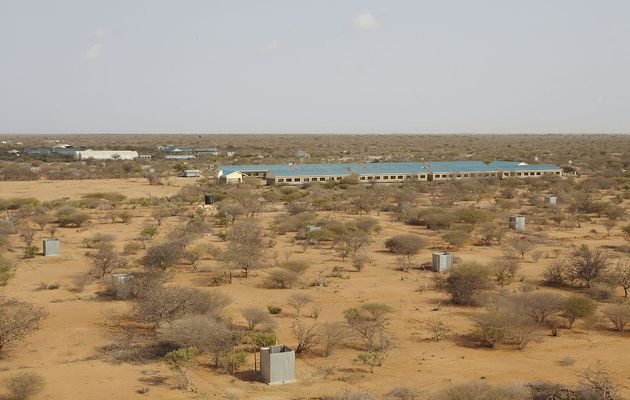 Ifo II refugee camp in Dadaab, Kenya. (Wikipedia, Oxfam East Africa).,