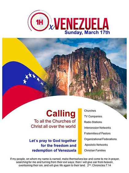 Poster of the praying campaign./ Evangelico Digital.