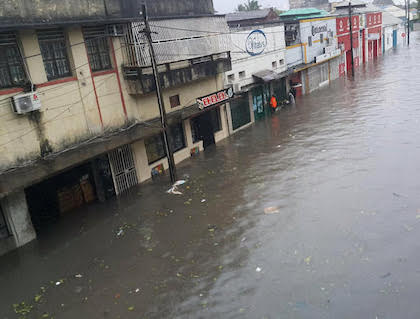 Many street have been flooded, which becomes a challenge for rescue works. / UEBE