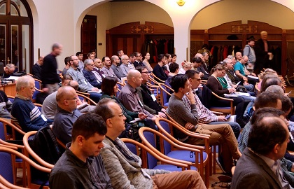 The main hall. CEF was held in a new location in Prague this year. / L. Wolters, Czech Evangelical Alliance