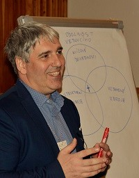 Czech Evangelical Alliance General Secretary Jirí Unger leading the Network for Leaders of Christian Organizations. / L. Wolters, Czech Evangelical Alliance