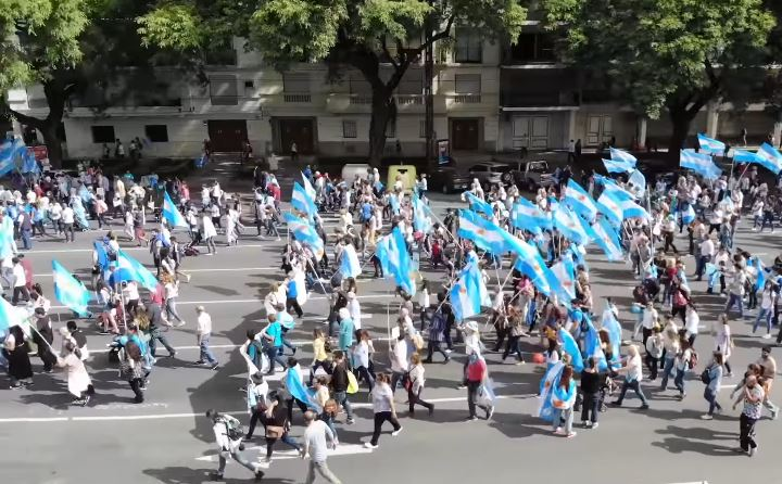 Many took the streets for the 2019 March For Life in Argentina. / ED