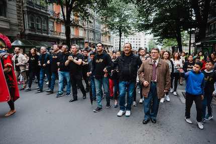Around 800 members of evangleical churches of Bilbao participated in the march. / HisLife