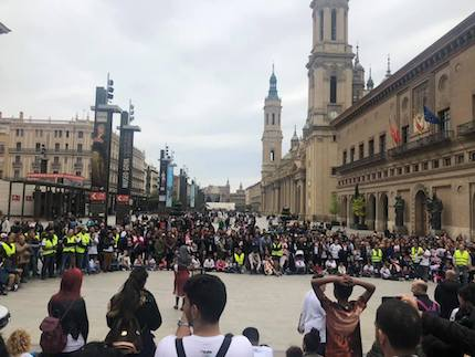 They shared a message about Jesus in the Pilar Square, Zaragoza. / Betel Zaragoza