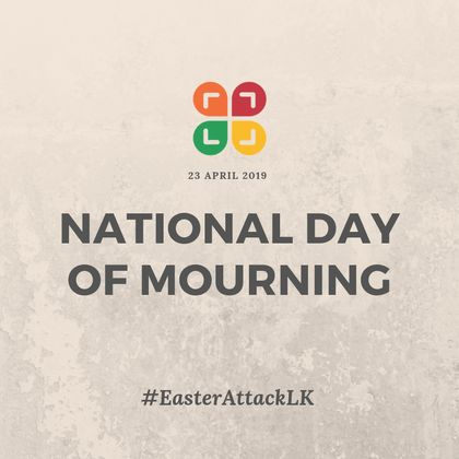 The country has observed three minutes of silence, while a state of emergency is in effect to prevent further attacks.  /  Twitter NCEASL