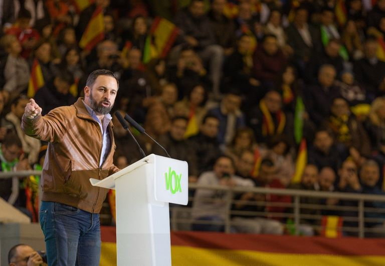 Leader of the new far-right party Vox, Santiago Abascal. / Twitter Vox