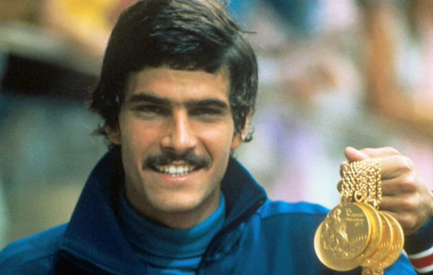 Mark Spitz won 7 gold medals in the 1972 Olympics. / Video caption.,