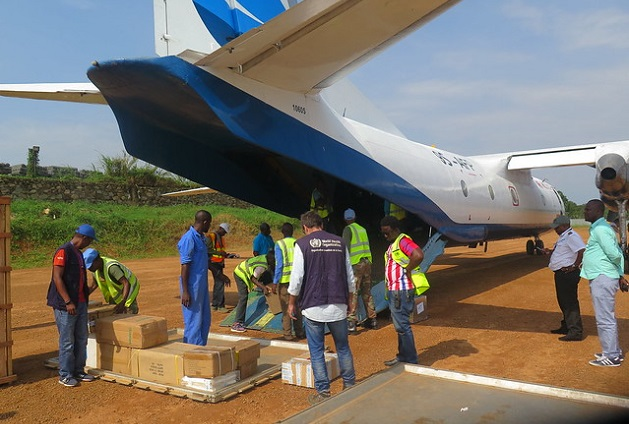 Arrival of medical logistics at the Beni Airport fot the fight against the spread of Ebola in the region. /MONUSCO, Mamadou Alain Coulibaly ,