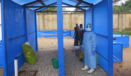 Ebola tratment cente at the Hospital in Beni. / MONUSCO, Alain Coulibaly