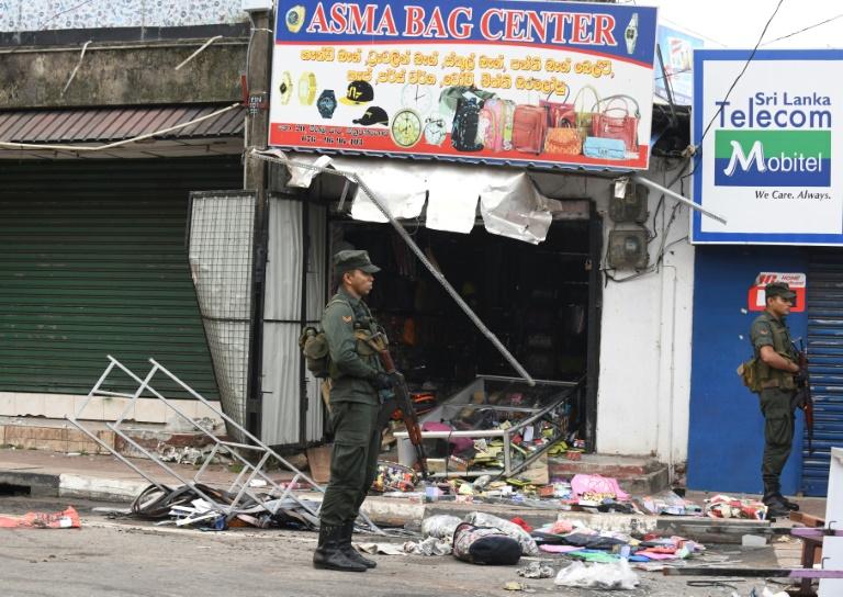A Muslim business attacked in Sri Lanka. / Photo: AFP, L. Wanniarachchi via NCEASL,