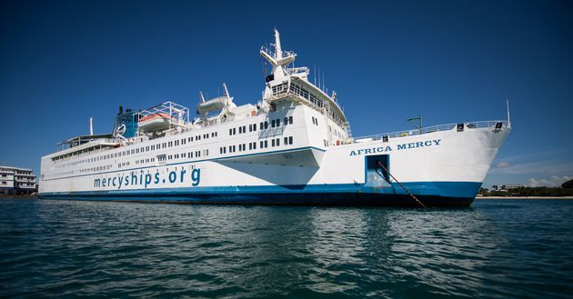 Africa Mercy, the hospital ship of Mercy Ships. / Mercy Ships.,