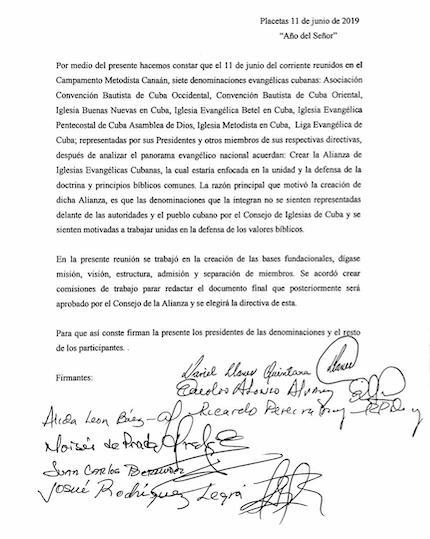 Source: AIEC, Alliance of Cuban Evangelical Churches.