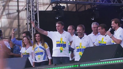 President Jair Bolsonaro participated in the march. / Marcha Para Jesus.