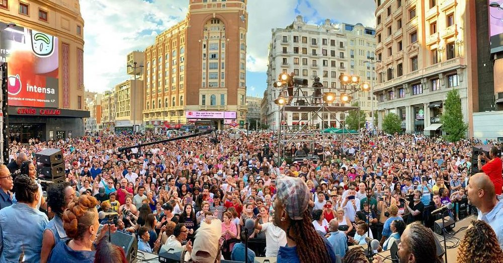 Friday's FestiMadrid in Callao Square, Madrid. / Association Luis Palau