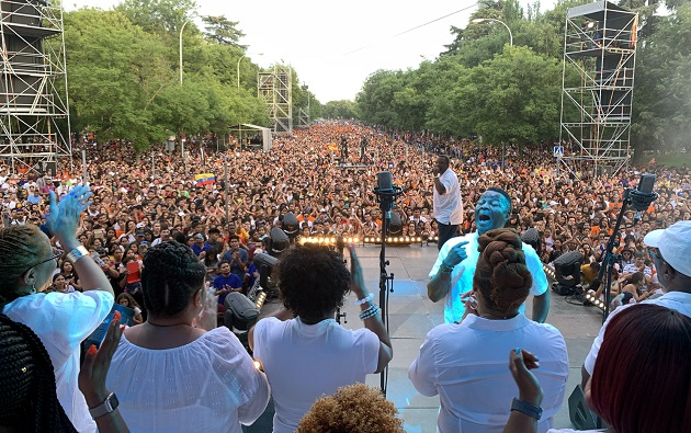 A moment of FestiMadrid, in Madrid, Spain, June 22. / Association Luis Palau,