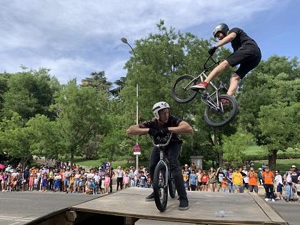 BMX bikers at the FestiMadrid event. / Association Luis Palau