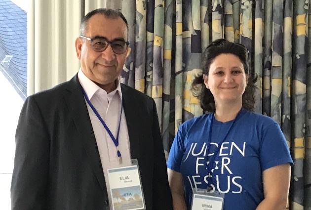 Elia Daoud and Irina Volodrska, at the EEA General Assambly 2019 in Germany. / X.M. Suárez,
