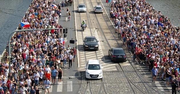 Thousands protests in Prague, Czech Republic, against Prime Minister Andrej Babis, June 2019. / EF, Jozef L. ,